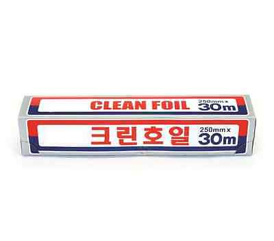 CLEAN FOIL Aluminum Foil 250mm x 30M Cooking Roll Paper Kitchen Made in Korea