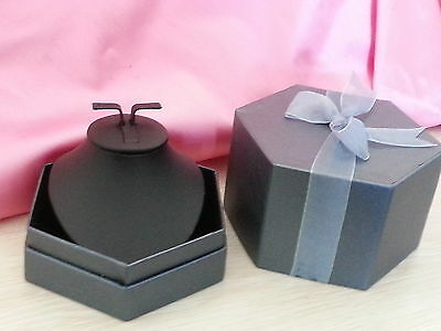 Large display necklace set gift box in navy colour 12cm*8.5cm