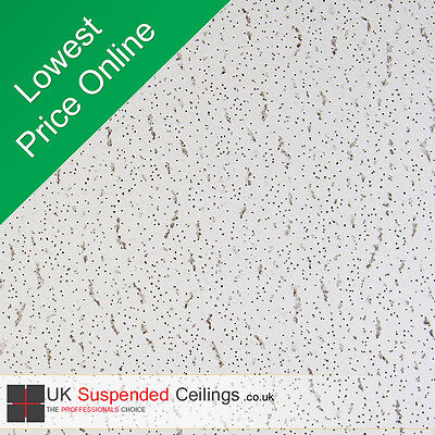 8 Armstrong Tatra Suspended Ceiling Tiles 595x595mm Square Edge 600x600 6x6