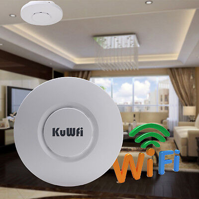 300Mbps POE Wireless Ceiling Access Point Router 200Meter Coverage Wifi Repeater