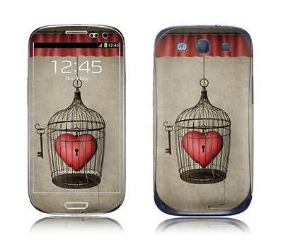 Skin Protector Kit F+R Per Samsung Galaxy Siii Heart In A Cage *et*