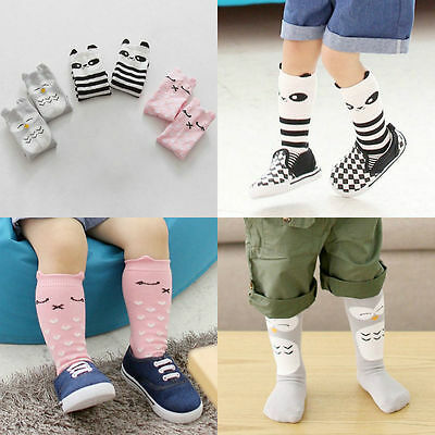 Delicate Baby Kids Toddler Girl Boy Leggings Knee High Long Socks Leg Stocking
