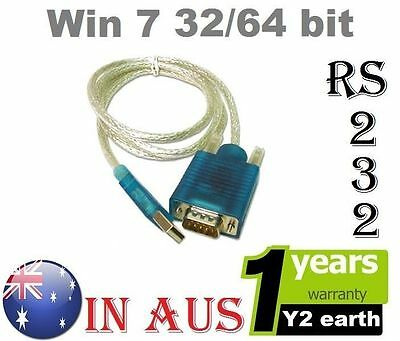 USB to 9 pin RS232 RS-232 Cable COM Port Serial Adapter Converter 2.0 Win Xp 7