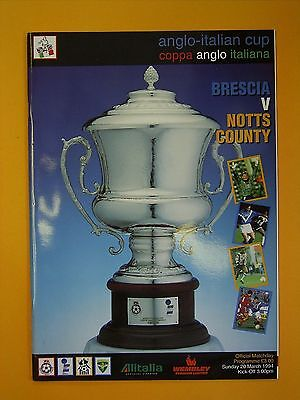 Anglo-Italian Cup - Brescia v Notts County - 20th March 1994