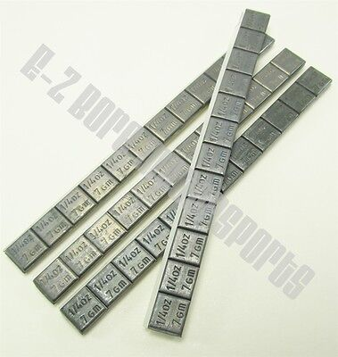 Wheel Weights Adhesive Stick-On 1/4 oz - 4 Strips  48 Pieces