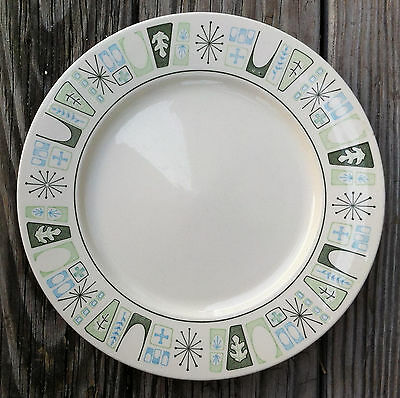 "VINTAGE TAYLORSTONE CATHAY TAYLOR SMITH 10.5"" PLATE ""Atomic Starburst"" PATTERN"