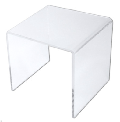 Clear Acrylic Square Riser Display Stand 4 x 4 x 4""