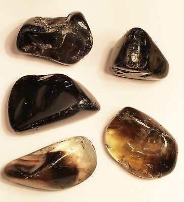 5 x Large Tumbled Smokey Quartz Crystals, Crystal Healing, Collect, Gift