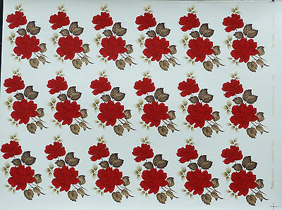CERAMIC DECAL RED  CHARLOTTE 507515 18 ON A SHEET  10 cm X 6cm RIGTH PRICE