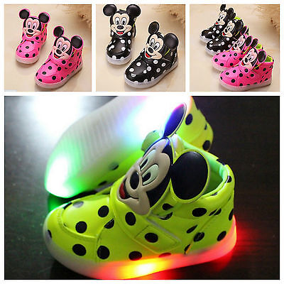 Scarpe Bambino Led Luci Mickey 2016  Kinder Schuhe Light Baby Shoes