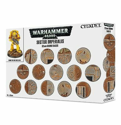 Warhammer 40K: Sector Imperialis 32mm Round Bases NEW