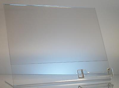 12 Clear acrylic 11 x 8.5 sign display with business card holder wholesale lot