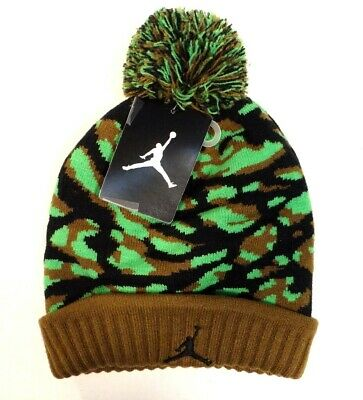 b9212fd91d4 Nike Jordan Jumpman Knit Cuff Beanie Skull Cap with Pom Pom Youth Boys 8-20