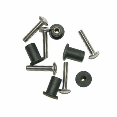 Well Nut Kit with Stainless 25mm Screws 10 Pack