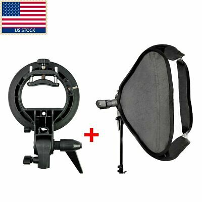 US GODOX 60cmx60cm S-Type Bracket Bowens Mount Holder softbox fr speedlite flash