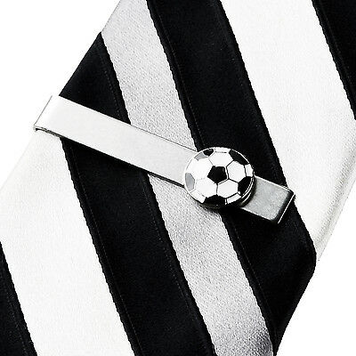Soccer Tie Clip - Tie Bar - Tie Clasp - Business Gift - Handmade - Gift Box