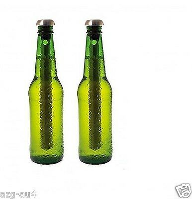 SALE!!! 2x 18/8 Stainless Steel Beer   Chiller Cooler Bottle Chill Sticks Pourer
