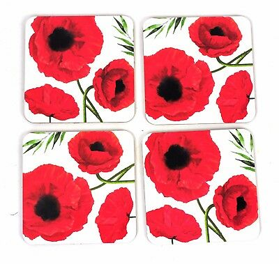 Coasters Set of 4 - Coffee Table Cup Mat - Mug Coaster Drinks