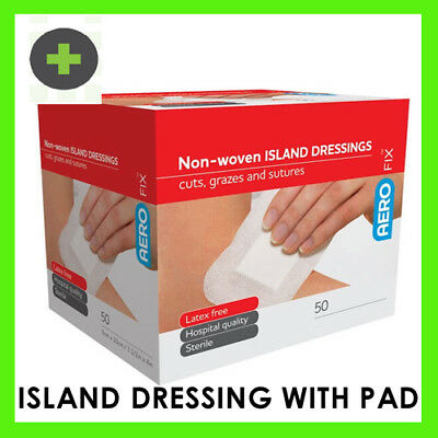 Island Wound Dressing 8x10cm x50 sterile with pad