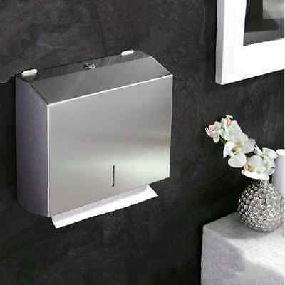 304 Stainless Steel Hand Paper Towel Dispenser Holder Toilet Heavy Duty