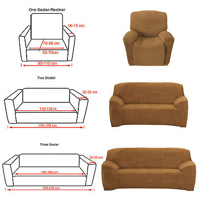 Stretch Couch Sofa Slip Cover Slipcover 1 2 3 Seater Protector Recliner CAMEL AU