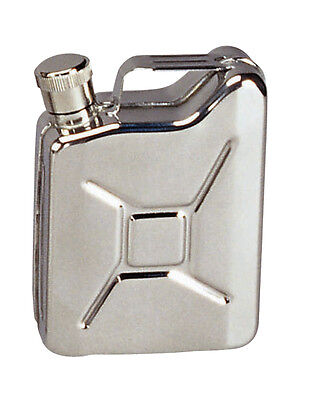 Flask New Stainless Steel 6 oz Jerry Can Flask - Mini Replica of GI Gas Can!