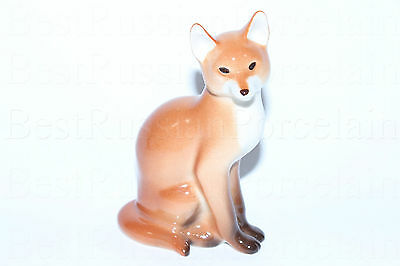 Russian Imperial Lomonosov Porcelain Sculpture Figurine Fox Lfz Russia Rare