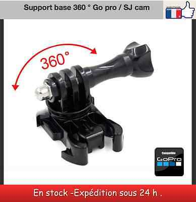 support base rotation 360 ° clips mount Gopro hero session / SJ