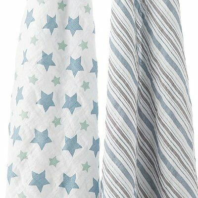 Aden Anais Swaddle Two Pack Prince Charming Style