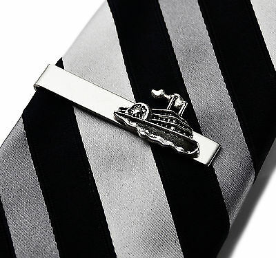 Steamboat Tie Clip - Tie Bar - Tie Clasp - Business Gift - Handmade - Gift Box