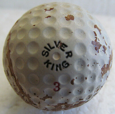 Vintage Early Dimple Golf Ball-The Silver King Circa 1930's