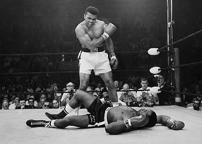 Muhammad Ali vs Sonny Liston 1965 Art Canvas Boxing Poster Print Cassius Clay