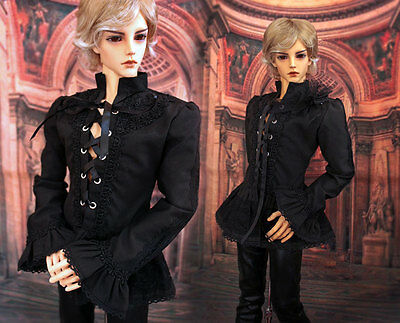 1/3 BJD 80-90cm tall Male Doll IOS 80 outfit Black Color Gothic Shirt