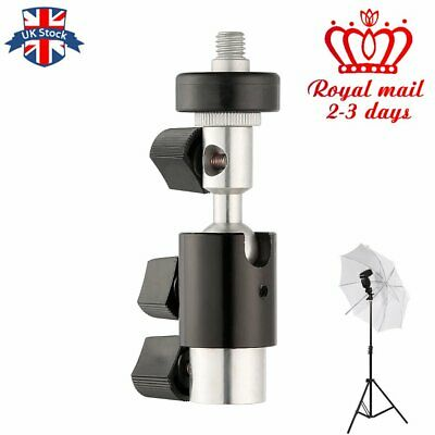 UK Type D 360 Degree Swivel Camera Flash Shoe Stand Bracket Umbrella Holder