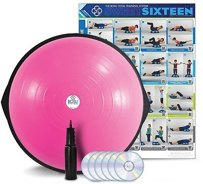 Pink Bosu Home Balance Trainer With Dvd And Foot Pump