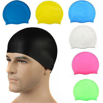 Silicone Swimming Cap for Women and Men - Long Hair Thick or Short - Average New