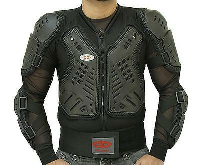 Motorcycle Racing Riding Full Body Armor Spine Protection Jacket w/ GP Armor