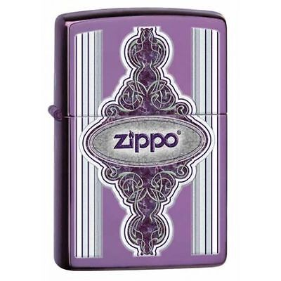 Zippo Windproof Lighter, Vintage Frame With Zippo Logo, 28866, New In Box