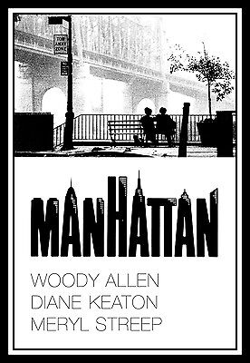 Manhattan FRIDGE MAGNET 6x8 Woody Allen Movies Poster Magnetic Canvas Print
