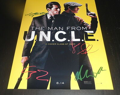 """The Man From U.n.c.l.e. Pp X3 Signed 12""""x8"""" A4 Photo Poster Uncle Henry Cavill"""