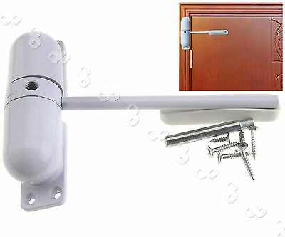 Fire Rated Adjustable Door Closer Spring Loaded Auto Closing Surface Mounted