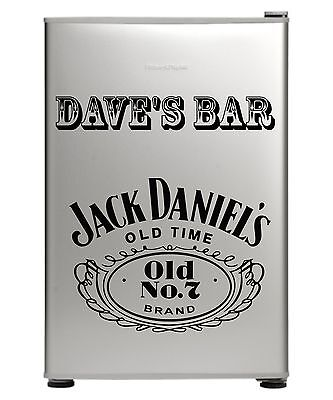 Jack Daniels Bar Fridge Vinyl Cut Sticker Decal With Your Name