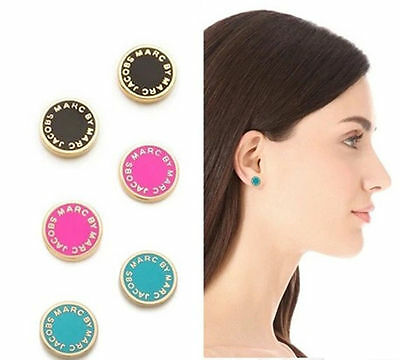 Hot sale Marc by Marc Jacobs 4 Colors Hexagon Letters Logo Disc Earring #E028X