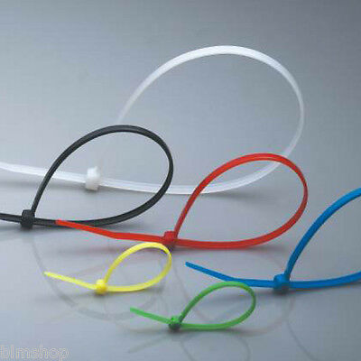 Strong Coloured Cable Ties Zip PACK Wrap 200-370mm Nylon FREE P&P Medium Large