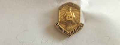 Yellow Freight System 14 year safe driving pin 1 X 3/4 National safety Council