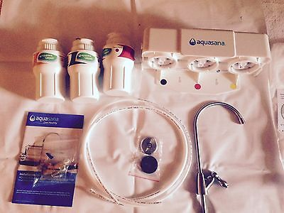 AQUASANA AQ-5300.56 3-Stage Under Sink Water Filter System with ...