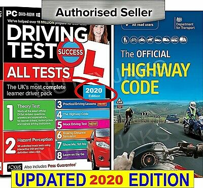 Driving Theory Test & Hazard CD Rom 2019 Edition & Highway Code Book NEW
