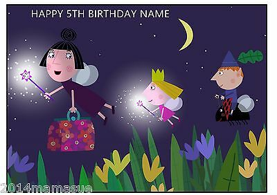 Ben & Hollys Little Kingdom A4 Rectangle Cake Topper Wafer Card Rice Paper