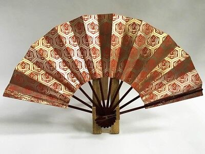 Vintage Japanese Geisha Odori 'Maiogi' Folding Dance Fan from Kyoto: Design XA