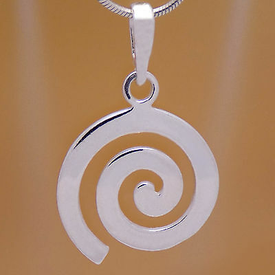Vintage Great Solid 925 Sterling Silver Stunning Spiral Design Stylish Pendant